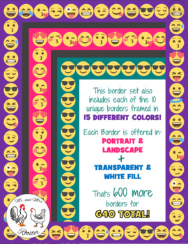 Emoji Borders and Frames: 640 Small Smile Borders ...
