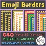 Emoji Borders and Frames: 640 Small Smile Borders {Portrai