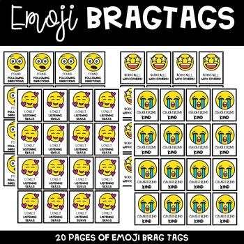 Emoji Brag Tags