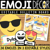 Emoji Classroom Decor Editable Bulletin Board Accents