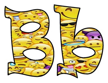 Emoji Bulletin Board Letters