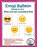 Emoji Bulletin Display Printable *Great for year around Self-Assessment*