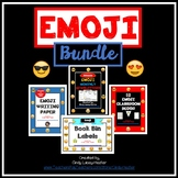 Emoji Bundle - Classroom Decor, Paper, Binder Covers, Plans, Newsletters, +
