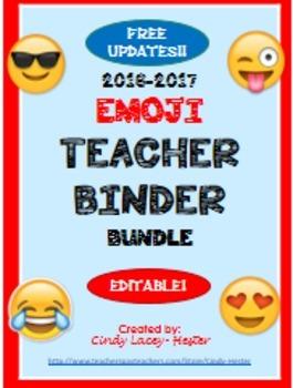 Emoji Bundle - Classroom Decor, Paper, Binder Covers, Plans, Newsletters, +
