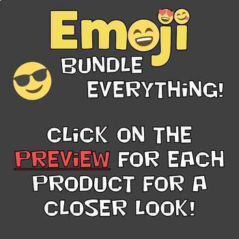 Emoji Bundle EVERYTHING! - Emoji Theme Decor, Tech Lessons, Breakouts, Awards