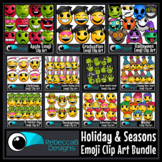 Holiday Emoji Clip Art Bundle