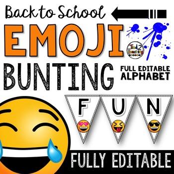 Emoji Classroom Decor: Editable Bunting