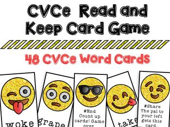 CVCe Silent E Read and Keep Card Game