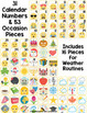Emoji Calendar Numbers and Bulletin Board Cards: Editable