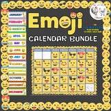 Emoji Calendar {Calendar, Months, Days, Etc.} Emoji Theme Decor