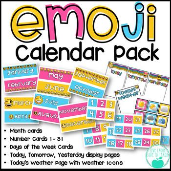 Emoji Calendar Pack