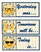 Emoji Calendar in cursive
