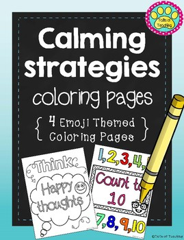 Emoji Calming Strategy Coloring Pages