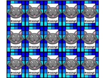 Emoji Cat Brag Tags