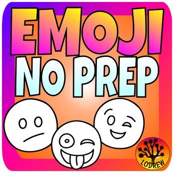 Emoji Centers No Prep Math Literacy Writing Graphing Begin