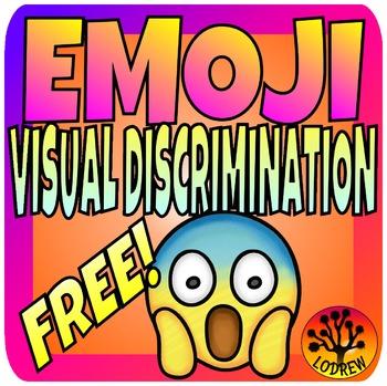 Emoji Centers Visual Discrimination Freebie Same Different