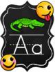 Emoji Chalkboard Decor Alphabet Posters and Chart