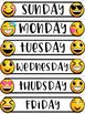 Emoji Chalkboard Decor Calendar EDITABLE