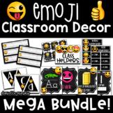 Emoji Chalkboard Classroom Decor Mega Bundle EDITABLE
