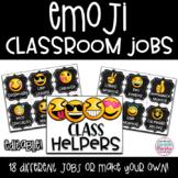 Emoji Chalkboard Decor Classroom Jobs and Helpers EDITABLE