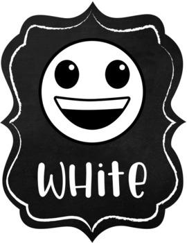 Emoji Chalkboard Decor Color Posters