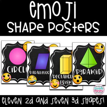 Emoji Chalkboard Decor 2D and 3D Shape Posters