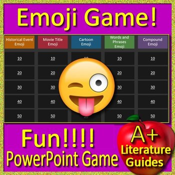 4th Grade Beginning of the Year Game with Emojis - Back to School Activities