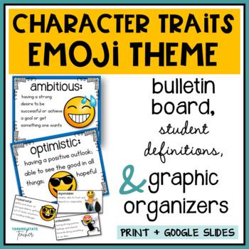 Emoji Theme Character Traits for an Emoji Bulletin Board