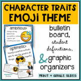 Character Traits Vocabulary and Activities Emoji Themed