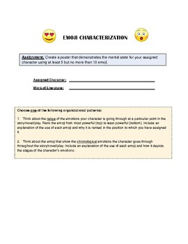 Emoji Characterization Poster Assignment (Level 1)