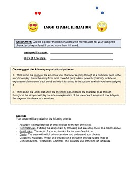 Emoji Characterization Poster Assignment (Level 2)