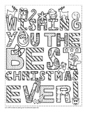 Emoji Christmas Card Coloring Page