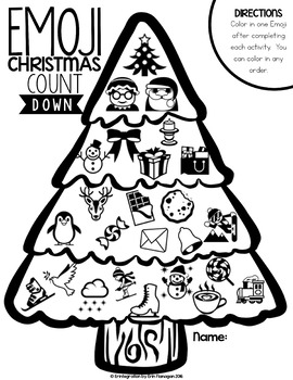 Emoji Christmas Countdown on the iPad