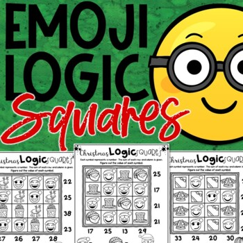 Emoji Christmas Math Logic Puzzles