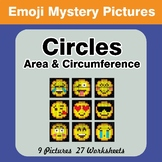 Emoji: Circles Area & Circumference - Math Mystery Picture