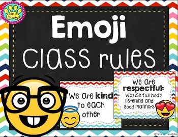 Emoji Class Rules Posters by Tails