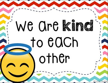 Emoji Class Rules Posters By Tails Of Teaching Tpt