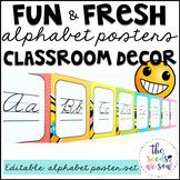 Emoji Classroom Decor: Alphabet Posters