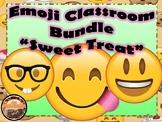 Emoji Classroom Decor Bundle Sweet Treat Theme (Editable)
