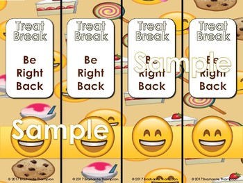 Emoji Classroom Decor Bundle Sweet Treat Theme (Editable)