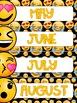 Emoji Classroom Decor Calendar Set