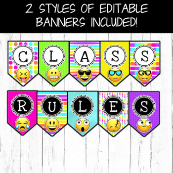 Emoji Classroom Decor Classroom Rules