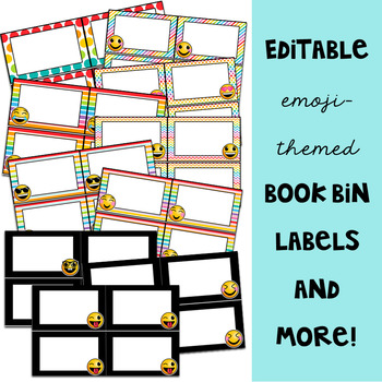 Emoji Classroom Decor: Editable Labels and Templates
