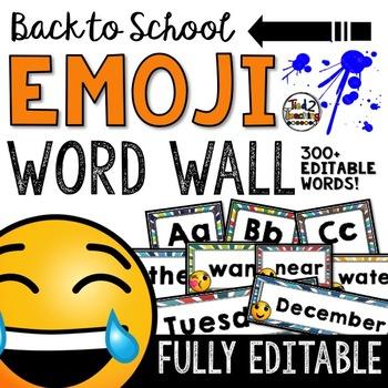 Emoji Classroom Decor: Editable Word Wall