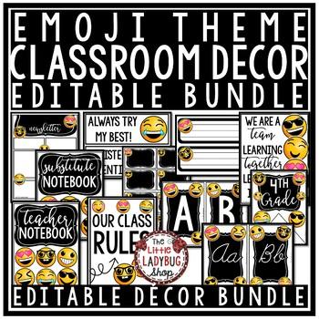 Emoji Classroom Decor EDITABLE- Emoji Back to School