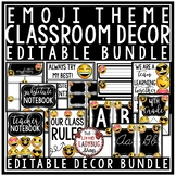 Emoji Classroom Decor Bundle: Newsletter Template Editable