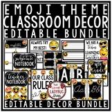 Emoji Classroom Decor Bundle: Newsletter Template Editable, Motivational Posters