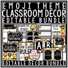 Emoji Classroom Decor EDITABLE- Back to School Emoji Theme