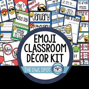 Emoji Classroom Decor Kit