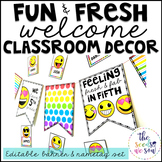 Emoji Classroom Decor: Name Tags and Banner